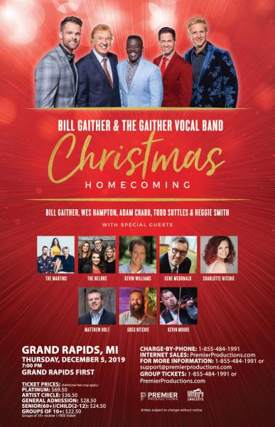 Bill Gaither & The Gaither Vocal Band Christmas Homecoming Tour - Grand Rapids (Wyoming), MI 2019