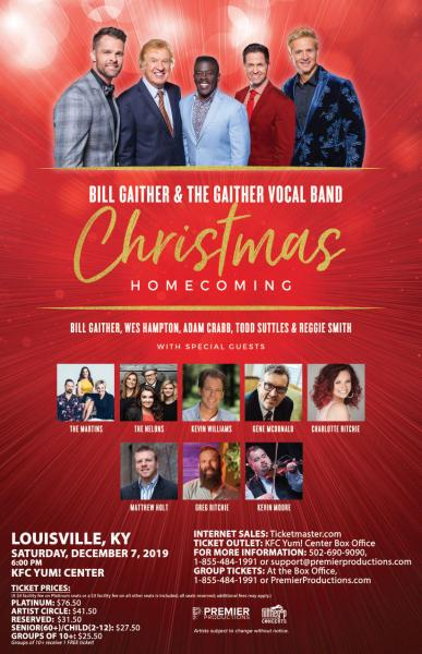 Bill Gaither & The Gaither Vocal Band Christmas Homecoming Tour - Louisville, KY 2019
