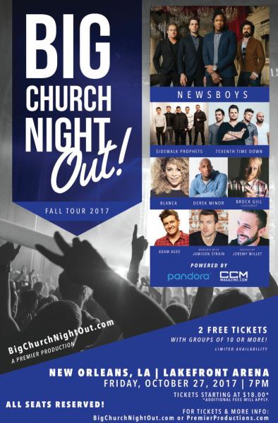 Big Church Night Out with Newsboys - New Orleans, LA 2017