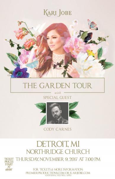Kari Jobe - The Garden Tour  - Detroit, MI 2017