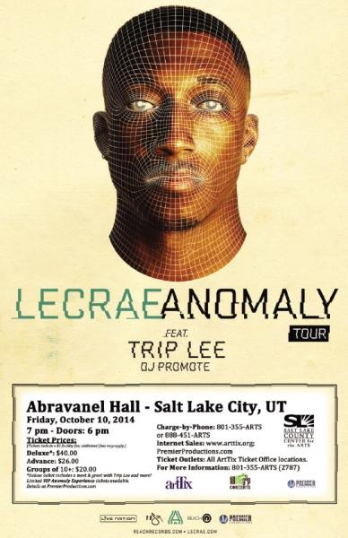 The Anomaly Tour ft. Lecrae with Special Guests  - Salt Lake City (Layton), UT 2014
